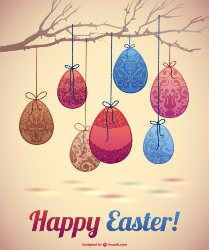 Easter Eggs Design Free Vector