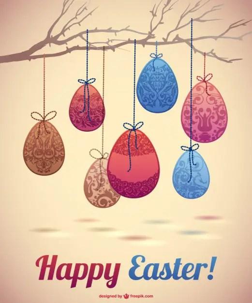 Easter Eggs Design Free Vector