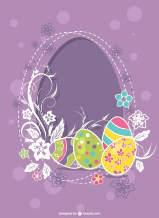 Easter Eggs Illustration Free Vector