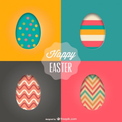 Easter Eggs Template Free Vector