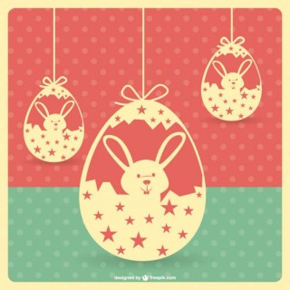 Easter Vintage Template Free Vector