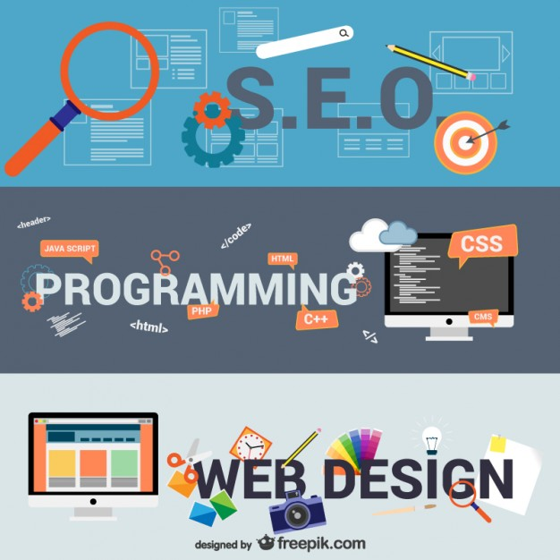 Ebusiness and Web Design Elements Free Vector
