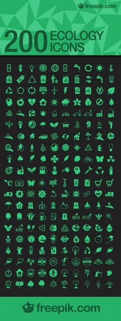 Ecology Icons Pack Free Vector