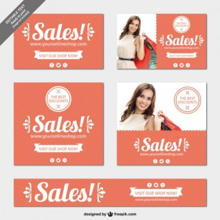 Editable Sales Banners Pack Free Vector