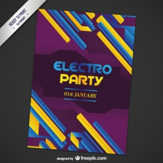 Electronic Music Party Poster Free Vector