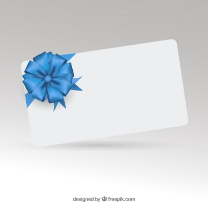 Elegant Gift Card with Ribbon Free Vector