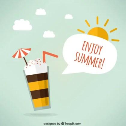 Enjoy Summer! Free Vector