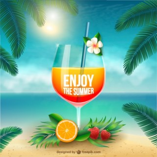 Enjoy The Summer Free Vector