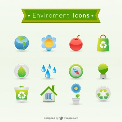 Environmental Icons Free Vector