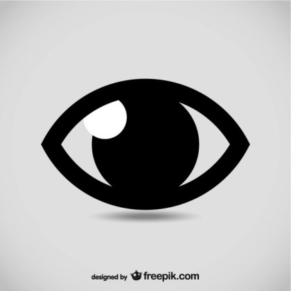 Eye Symbol Illustration Free Vector