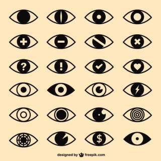 Eyes Icons Pack Free Vector