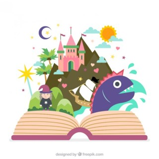Fairy Tale Book Free Vector