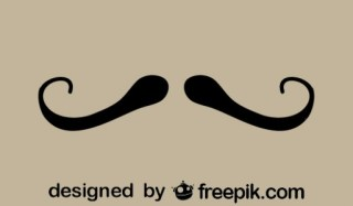 Fancy Retro Style Mustache Minimalist Icon Free Vector
