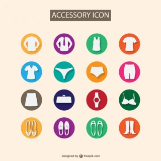 Fashion Accesories Flat Free Vector