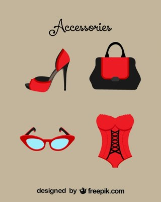 Fashion Accesories Vector Free Vector