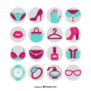 Fashion and Beauty Free Icons Free Vector