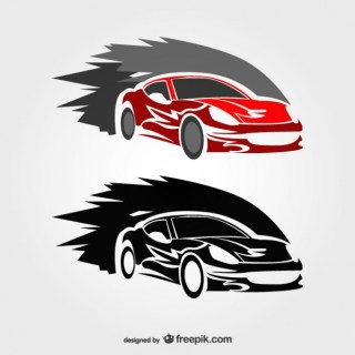 Fast Race Car Logo Free Vector