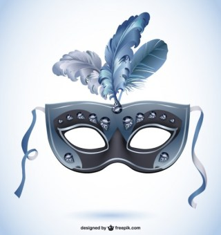 Feather Canival Mask Free Vector