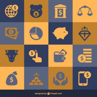 Finance and Money Flat Elements Free Vector