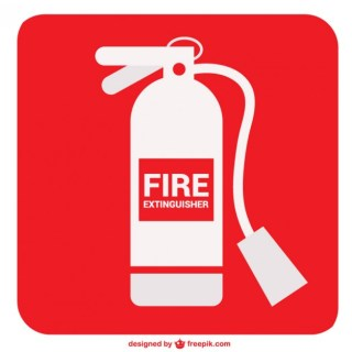 Fire Extinguisher Sign Free Vector