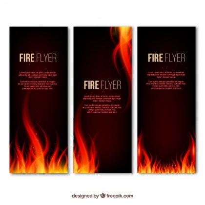 Fire Flyer Free Vector