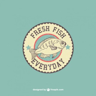Fish Retro Logo Free Vector