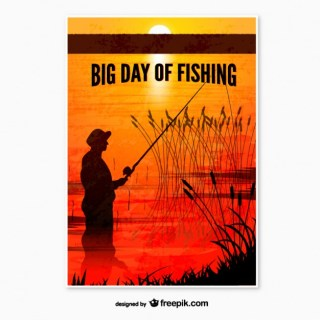 Fishing Day Poster Free Vector