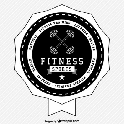 Fitness Sports Retro Logo Free Vector
