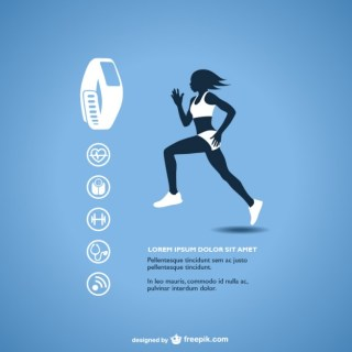 Fitness Tracker Graphics Free Vector