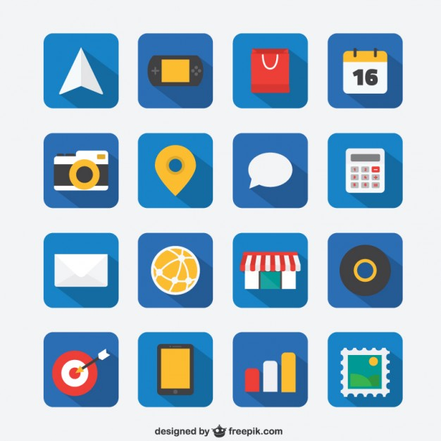 Flat Icon for Web and Mobile App Free Vector