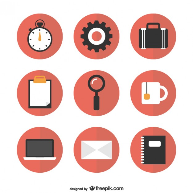 Flat Icons Free Round Graphics Free Vector