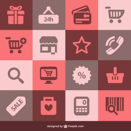Flat Shopping Free Vector