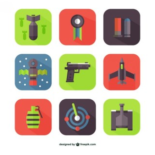 Flat Weapons Free Vector