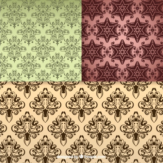 Floral Seamless Pattern Vintage Backgrounds Free Vector