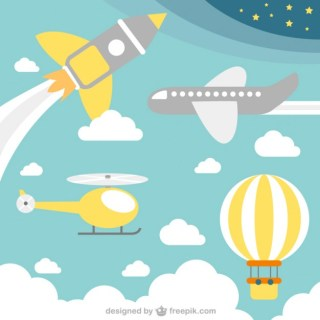 Flying Transport Concept Free Vector