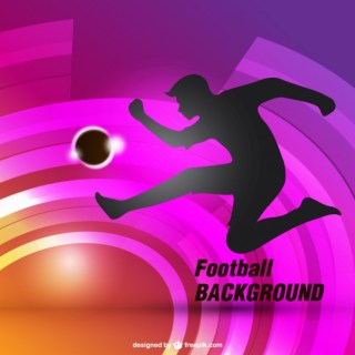 Football Background with Silhouette Free Vector
