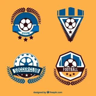Football Logos Collection Free Vector