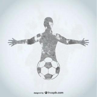 Football Player Grunge Design Free Vector