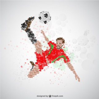 Football Player on Offense Free Vector
