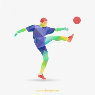 Football Player Polygonal Template Free Vector