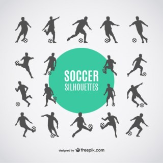 Football Players Silhouettes Free Dowbload Free Vector
