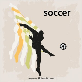 Football Soccer Player Silhouette Free Vector