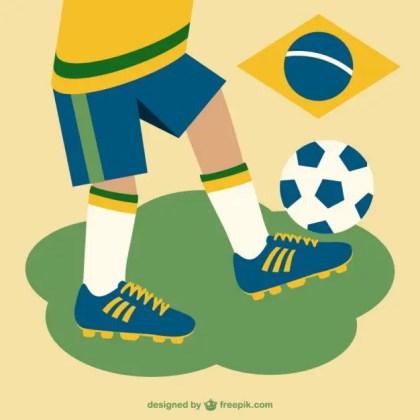Free Brazil Soccer Design Free Vector