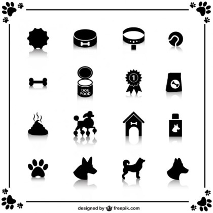 Free Dog Icons Free Vector