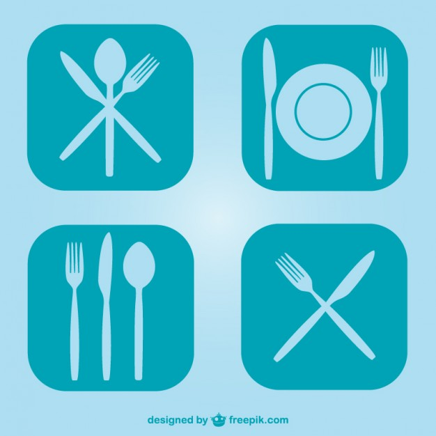 Free Flat Kitchen Utensils Symbols Free Vector