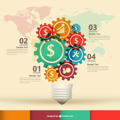 Free Infography Template Design Free Vector