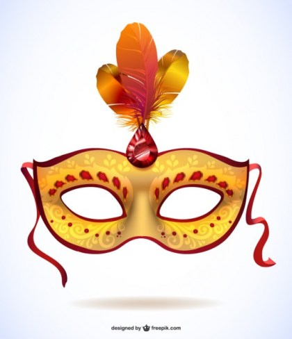 Free Mask for Carnival Design Free Vector