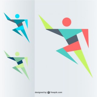 Free Running Man Free Vector