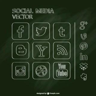 Free Social Media Chalkboard Design Free Vector