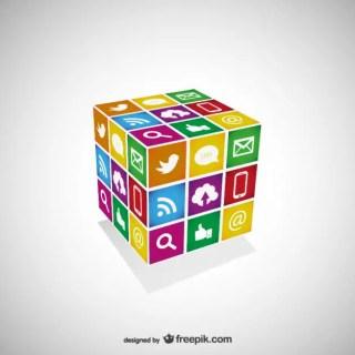 Free Social Media Cube Template Free Vector